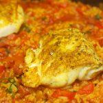 Paella met kabeljauw en chorizo 3
