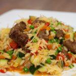 Risotto met Chipolata en veel groente 28