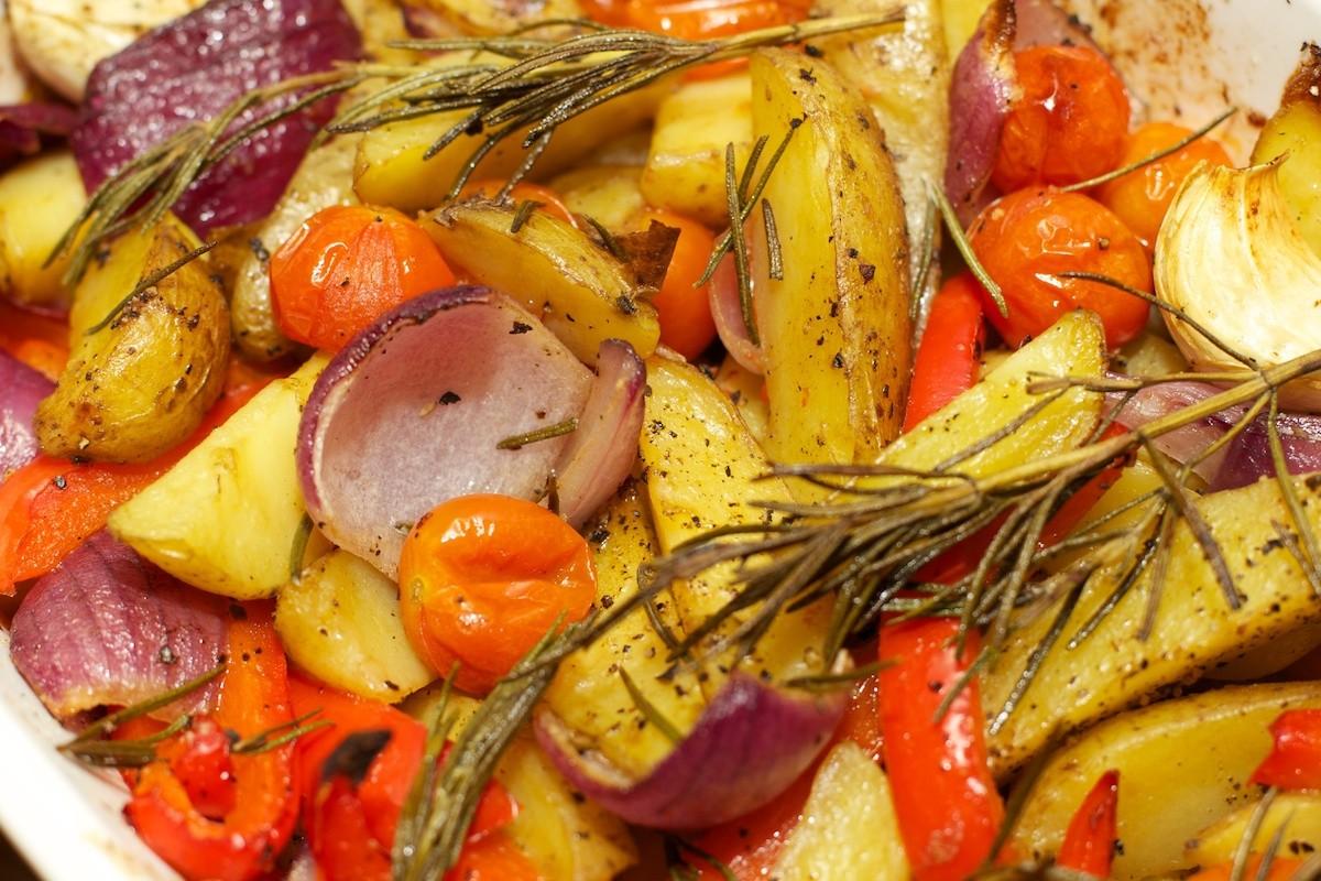 gegrilde aardappelen in de oven