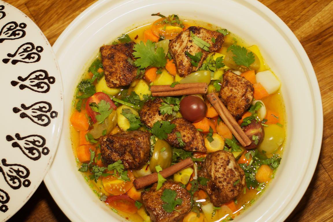 Noord-Afrikaanse Tajine met kip