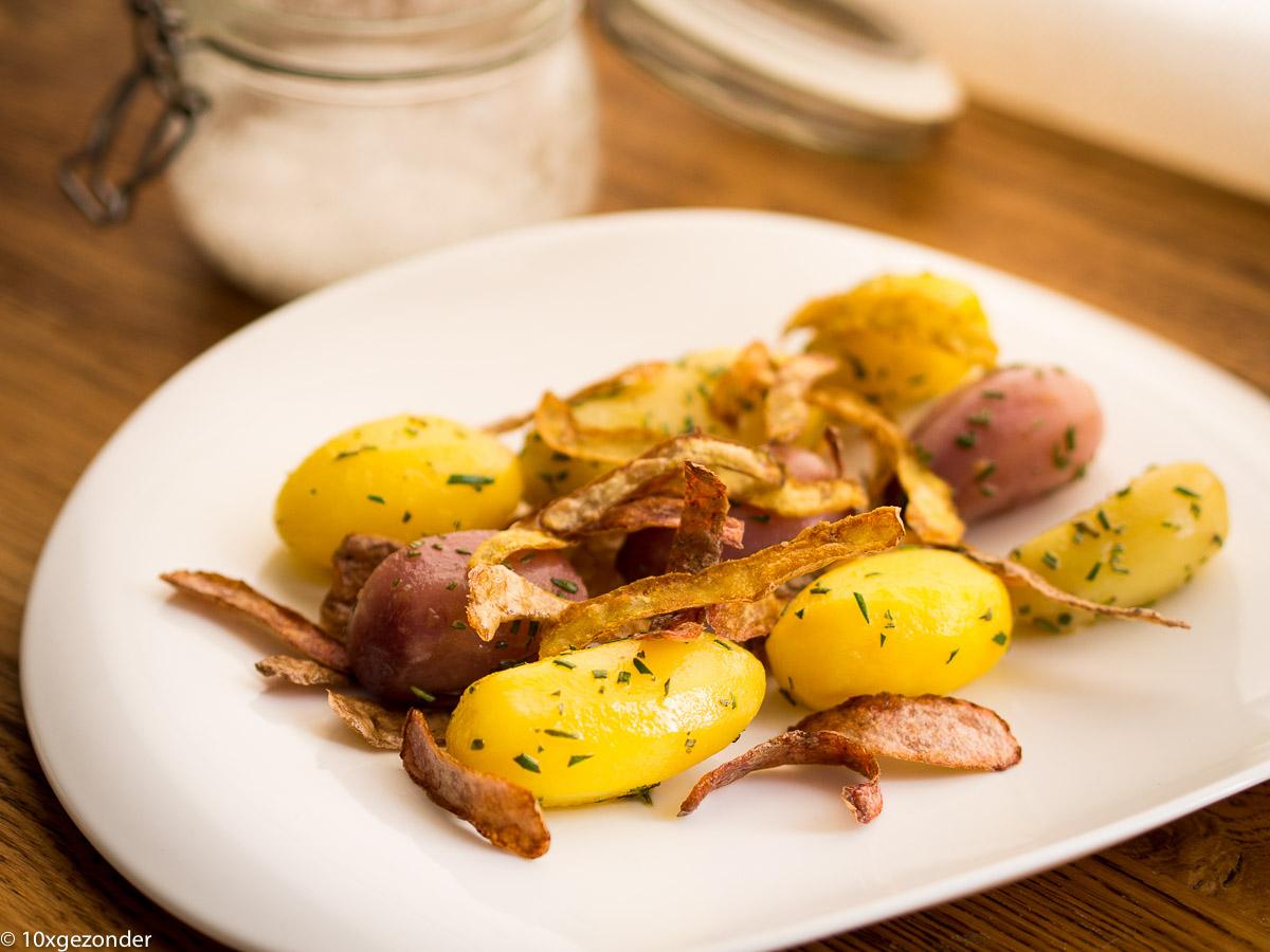 Wilde aardappels met een knapperig schilletje