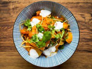 Curry met aardappel en pompoen