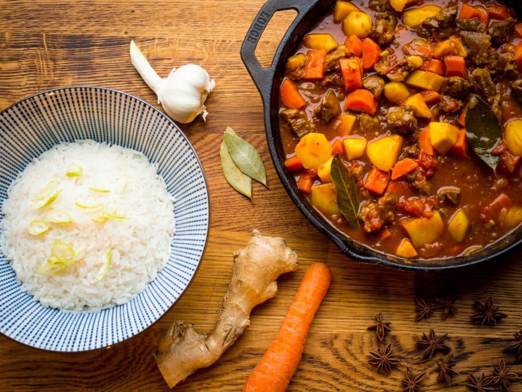 Japanse curry met stoofvlees